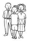 Coloriage trois enfants