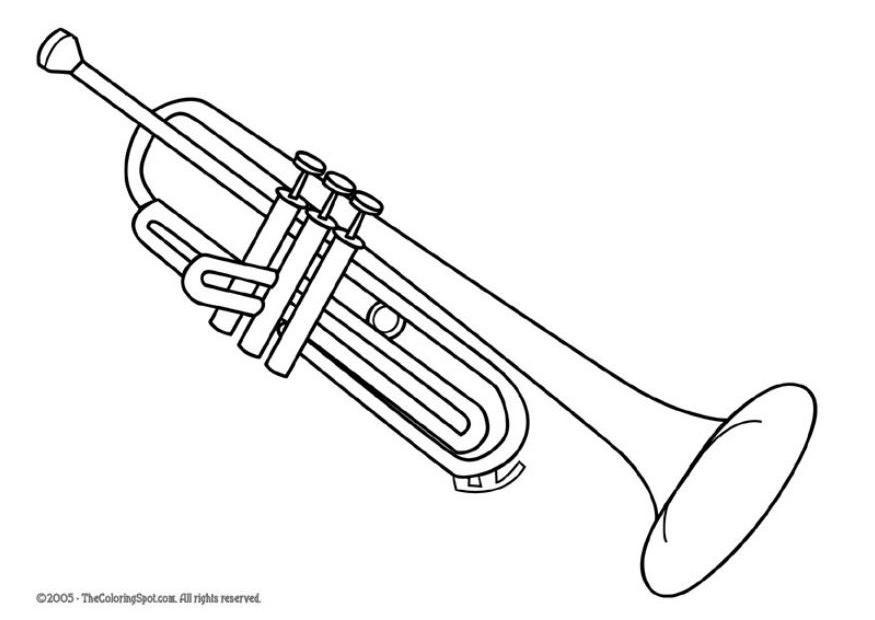 coloriage trompette coloriages gratuits 224 imprimer
