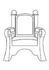 Coloriage trône de Saint Nicolas