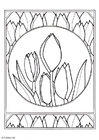 Coloriage tulipes