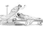 Coloriage Ulysse - Minerve et la reine