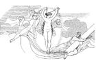 Coloriage Ulysse - Neptune déchaînr une tempête
