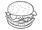 Coloriages un hamburger
