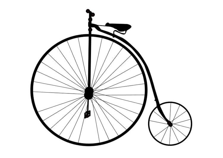 Coloriage un v lo ancien img 10105 - Dessin bicyclette ...