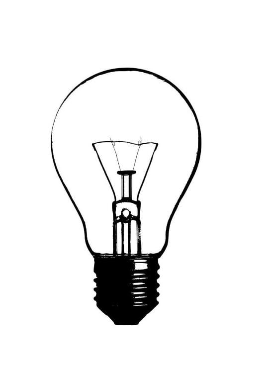 Coloriage une ampoule img 10244 - Coloriage lampe ...