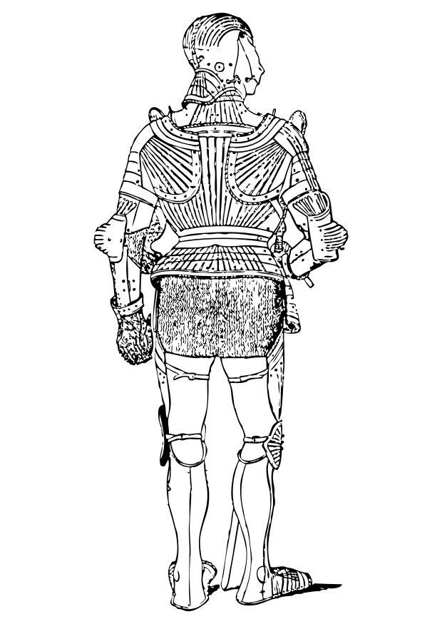 Coloriage une armure vue de derri re img 10552 - Dessin armure ...