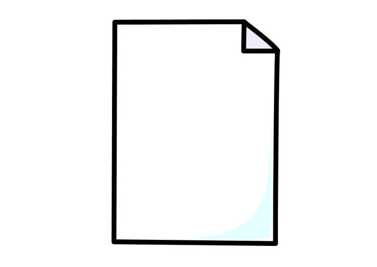 coloriage une feuille de papier img 10263. Black Bedroom Furniture Sets. Home Design Ideas