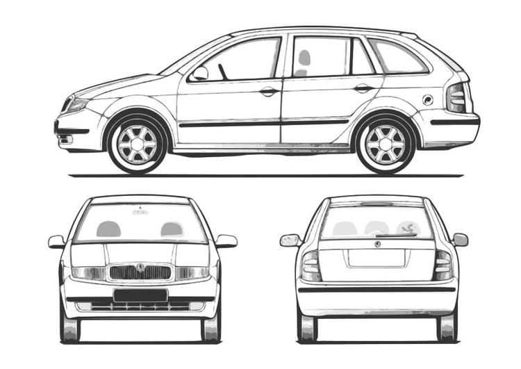 Coloriage Une Voiture Fabia Img 10257 Images