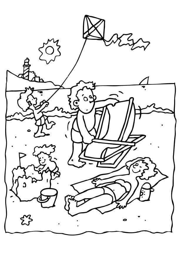 Coloriage vacances la mer img 6559 - Dessin vacances mer ...
