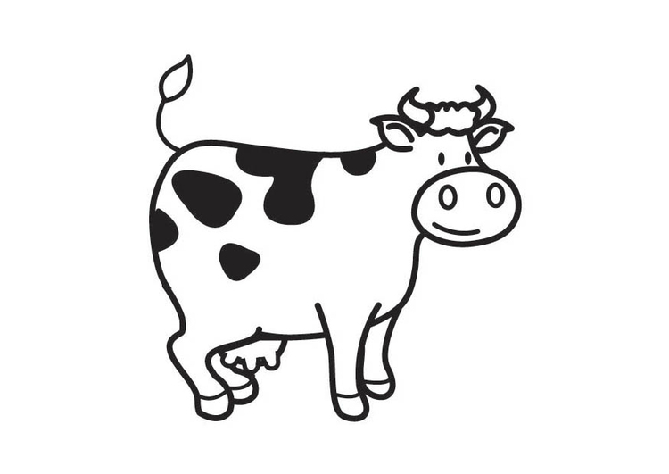 Coloriage vache img 17792 - Dessin vaches ...