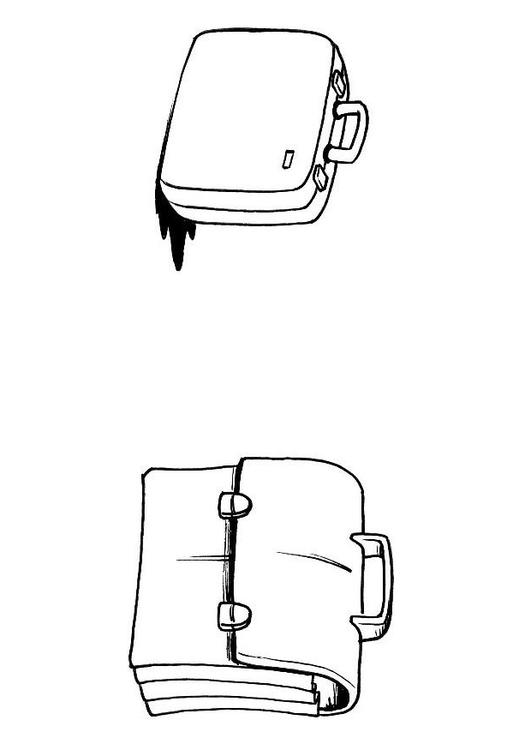 Coloriage valise cartable img 8191 - Cartable a colorier ...
