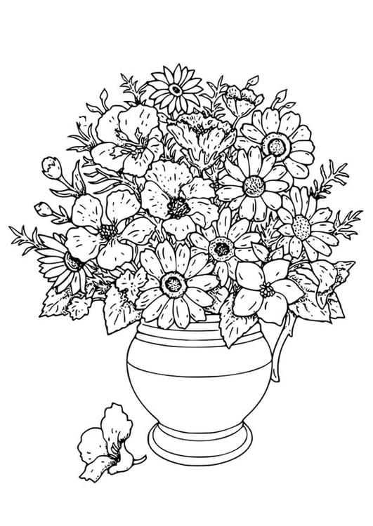 coloriage vase avec fleurs sauvages - img 18649