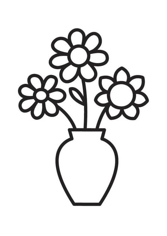 Coloriage Vase De Fleurs Coloriages Gratuits A Imprimer
