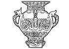 Coloriage vase de Viking