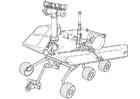 Coloriage véhicule d'exploration sur mars