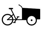 Coloriage vélo cargo