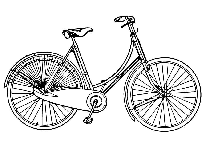 Coloriage v lo de femme img 16448 - Dessin bicyclette ...