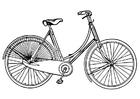 Coloriage vélo de femme