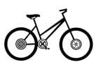 Coloriage vélo pour femmes