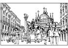 Coloriage Venise - Italie