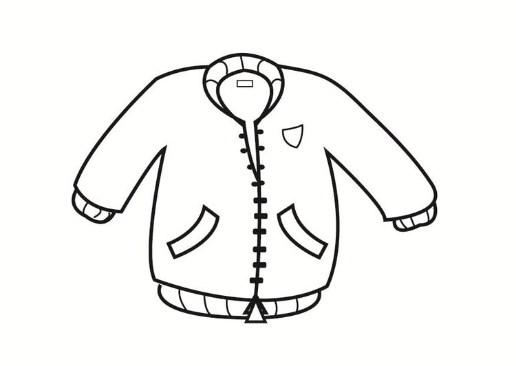 Coloriage veste img 23336 - Dessin de manteau ...