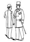 Coloriage vêtements pour hommes 1892