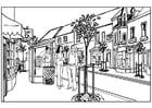 Coloriage ville