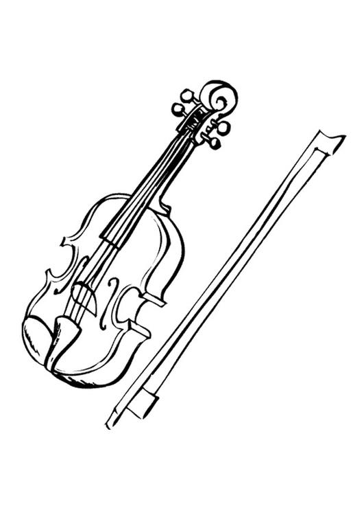 Dessin De Violon coloriage violon - img 9594
