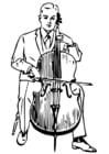 Coloriage violoncelle