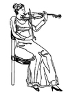 Coloriage violoniste