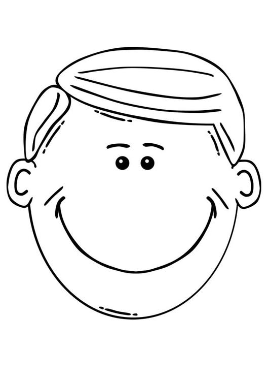 Coloriage visage d 39 homme img 17079 - Coloriage visage ...