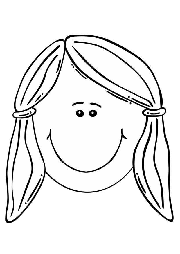 Coloriage visage de fille img 17105 - Coloriage visage ...