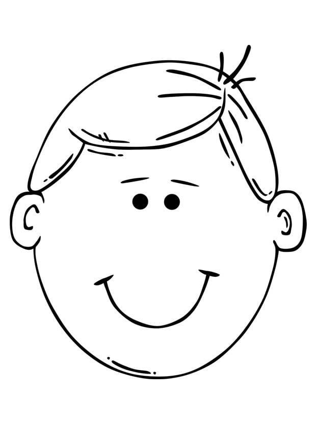 Coloriage visage de gar on img 17098 - Dessin tete de profil ...