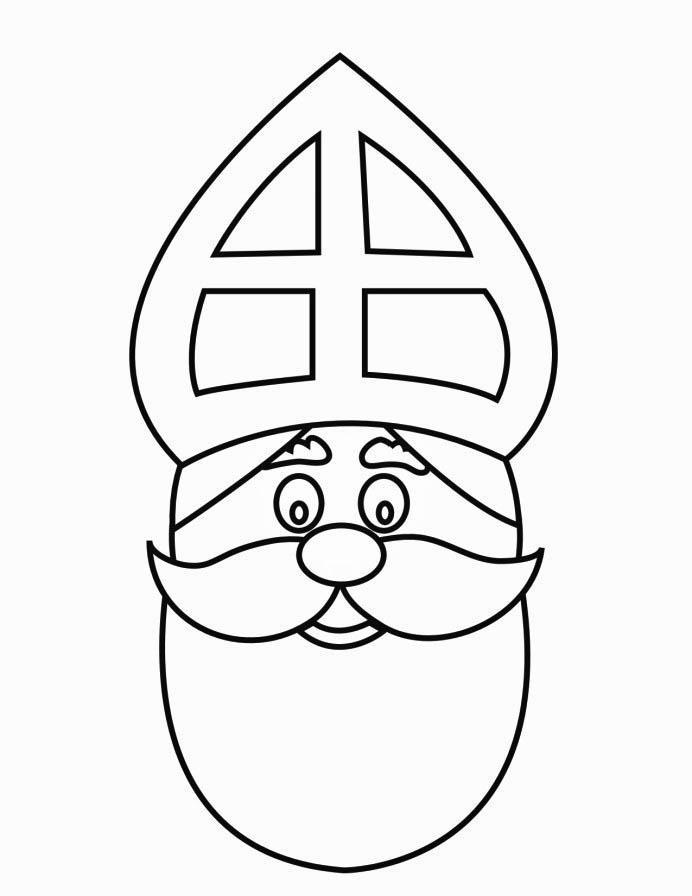 Coloriage visage de saint nicolas img 16169 - Saint nicolas dessin couleur ...