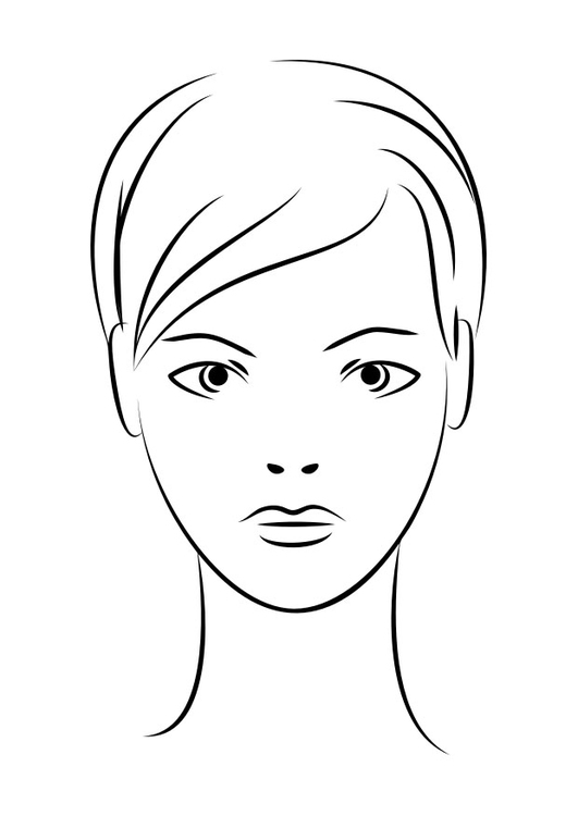 Coloriage visage img 29939 - Coloriage visage ...