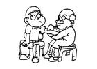 Coloriage visite médicale