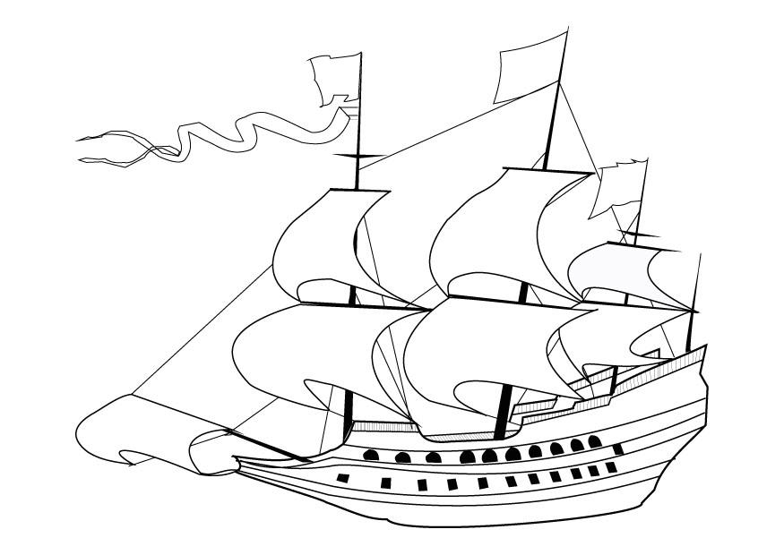 Coloriage voilier 17i me si cle img 9860 - Coloriage voilier ...