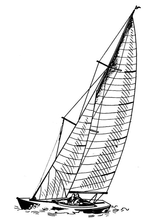 Coloriage voilier img 18855 - Coloriage voilier ...