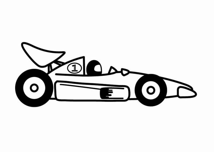 Coloriage voiture de compétition F1 - img 24110