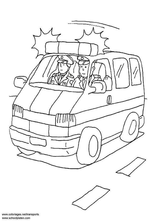 Coloriage voiture de police - Coloriages Gratuits à ...