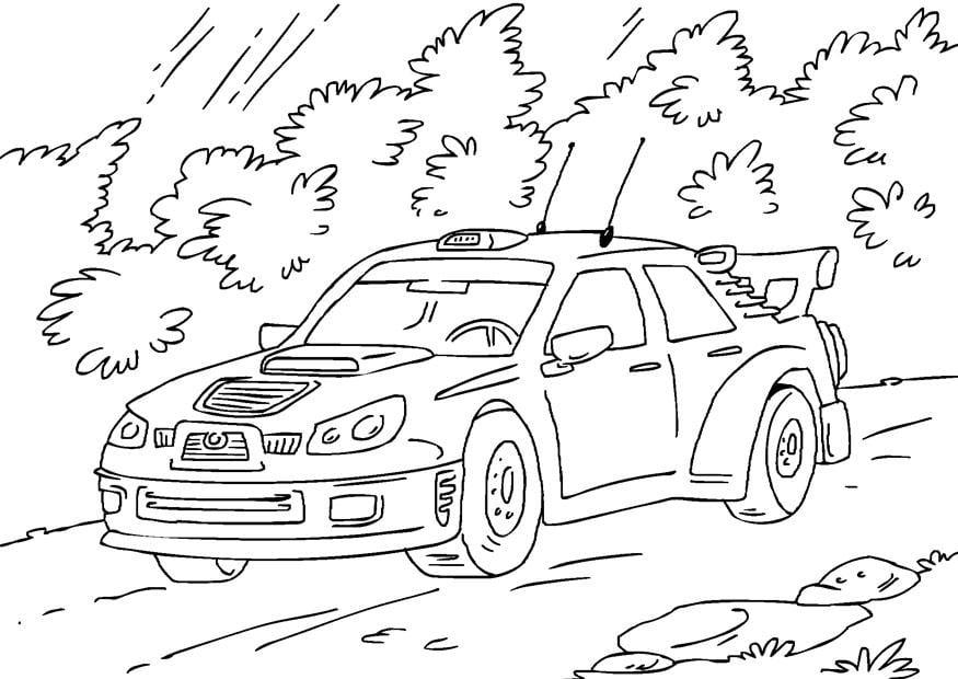 Coloriage voiture de rallye img 27170 - Dessin voiture de rallye ...
