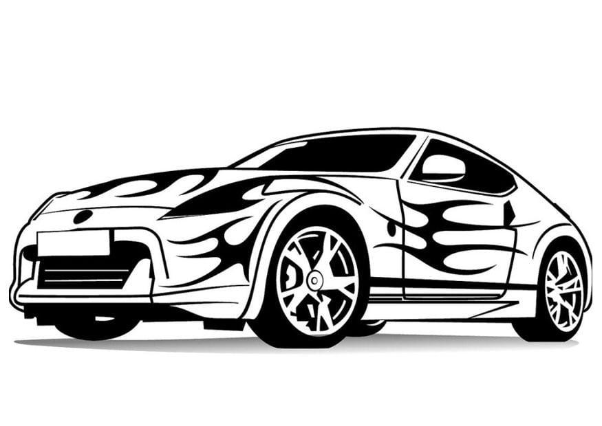 Coloriage voiture de sport img