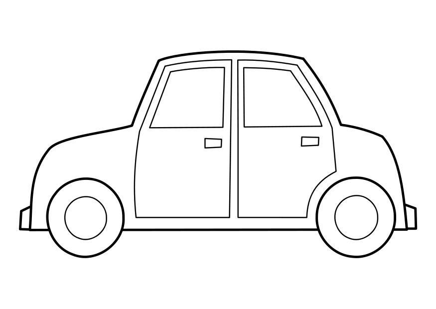 Coloriage voiture img 22848 - Dessin d un car ...
