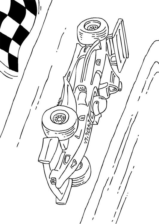 coloriage voiture formule 1 i