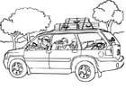 Coloriage voyager - auto