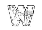 Coloriage w-walrus
