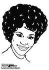 Coloriages Whitney Houston