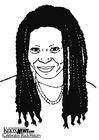 Coloriages Whoopi Goldberg