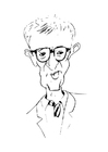 Coloriages Woody Allen