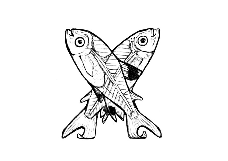 Coloriage x-x-ray-fish